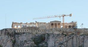 Акрополь, Афины, Греция - 24-ое октября 2017: Много туристов от Стоковые Фотографии RF