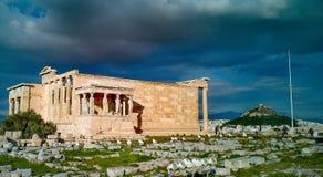 Акрополь Афин одного 7 интересов мира стоковые изображения