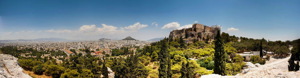 акрополь панорамный Стоковая Фотография