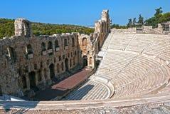 Акрополь амфитеатра, Афины Греция Стоковые Фото