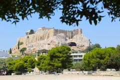 Акрополь Афиныы, Греции Стоковое Изображение RF