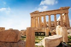 Акрополь Афин в Греции во время лета Стоковое фото RF
