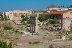 Акрополь Афин известный Стоковые Изображения