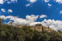 Акрополь Афин, Парфенон Стоковое Изображение RF