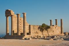 Акрополь древнегреческия Стоковая Фотография