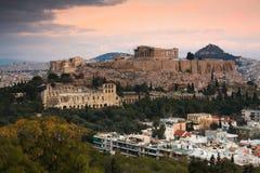 акрополь athens Стоковые Изображения