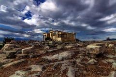 Акрополь - Erechtheion - Афины Стоковое Фото