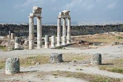 Акрополь Hierapolis в Pamukkale, Турции Стоковое Изображение