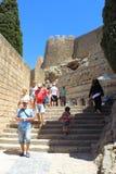 Акрополь Lindos, Родоса Стоковое Изображение