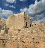 Акрополь Linods на месте Rhodos старом археологическом, Греции стоковая фотография