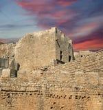 Акрополь Linods на месте Rhodos старом археологическом, Греции стоковые изображения rf