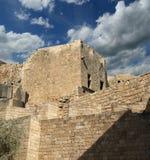 Акрополь Linods на месте Rhodos старом археологическом, Греции стоковое изображение