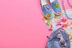 Аксессуары битника моды Стильное городское обмундирование Стоковые Изображения