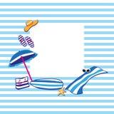 Аксессуары лета пляжа Стоковые Изображения RF