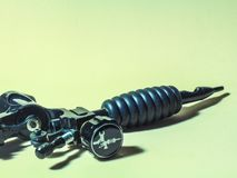 Аксессуары татуировки сталь трубки машины стоковое фото rf