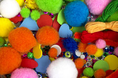 Аксессуары для needlework стоковое изображение rf