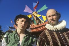 2 актера на ренессансе Faire, Agoura, Калифорнии Стоковая Фотография RF