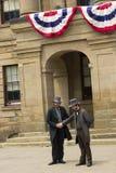 Актеры одетые как отцы и дамы конфедерации в Charlot стоковое фото rf