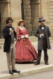 Актеры одетые как отцы и дамы конфедерации в Charlot стоковая фотография
