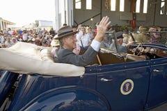 Актеры портретируя президента Франклин Д. Рузвельт Стоковое Фото