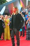 Актер Брэд Питт на фестивале фильмов Москвы Стоковые Фото