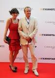 Актер Andrey Sokolov с супругой Стоковое Изображение