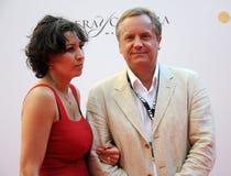 Актер Andrey Sokolov с супругой Стоковые Фотографии RF