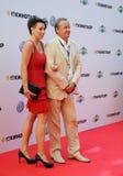 Актер Andrey Sokolov с супругой Стоковые Изображения RF