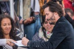 Актер Keanu Reeves присутствует на премьере стука стука во время 41st фестиваля фильмов американца Deauville Стоковое Изображение RF