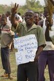Активист оппозиции в Уганде Стоковые Изображения RF
