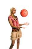 активная девушка баскетбола Стоковое Изображение RF