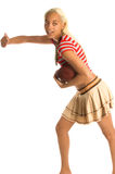 активная девушка footballl стоковое фото rf