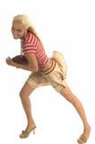 активная девушка footballl стоковая фотография rf