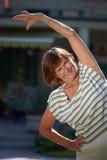 активная старшая женщина Стоковые Изображения RF