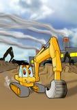 активная строительная площадка backhoe Стоковая Фотография RF