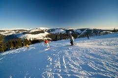 активное катание на лыжах людей Стоковая Фотография RF