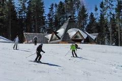 Активное катание на лыжах Стоковая Фотография