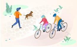 Активные воссоздание и остатки Outdoors Vector концепция бесплатная иллюстрация