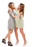 Активные подруги имея потеху и танцевать Стоковое фото RF