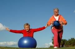 активные старшие женщины Стоковое Изображение RF