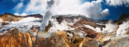 активный вулкан Стоковое Изображение RF