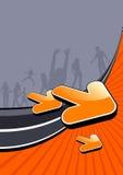 активный в стиле фанк плакат людей Стоковые Фотографии RF