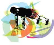 Активный делать молодого человека нажим-поднимает в спортзале иллюстрация вектора