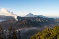 Активный держатель Bromo - Ява, Индонезия Стоковые Изображения
