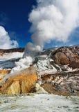 активный кратер вулканический Стоковое Фото