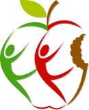 активный логос яблока Стоковые Фото