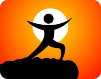 активный людской логос Стоковое Изображение