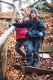 Активный пеший туризм мальчиков Стоковая Фотография RF