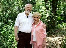 активный старший пар Стоковая Фотография