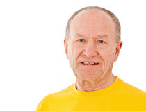 активный старший портрета человека Стоковая Фотография